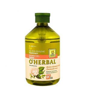 O'Herbal Gel de Ducha Tonificante Rosa Damasco 500 ml.