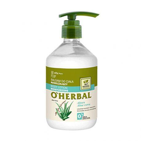 O'Herbal Bálsamo Corporal Hidratante Aloe Vera 500 ml.