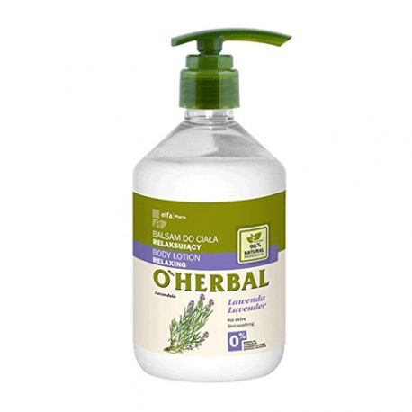 O'Herbal Bálsamo Corporal Relajante Lavanda 500 ml.