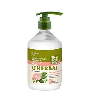 O'Herbal Bálsamo Corporal Tonificante Rosa Damasco 500 ml.