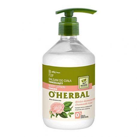 O'Herbal Bálsamo Corporal Tonificante Rosa Damasco 500 ml.