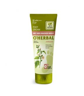 O'Herbal Crema para pies, talones secos y agrietados con extracto de althaea 75 ml.