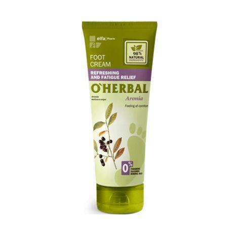 O'Herbal Crema refrescante y para el alivio de la fatiga para pies con extracto de aronia 75 ml
