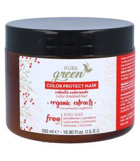 Mascarilla Color Protect Pure Green 500ml