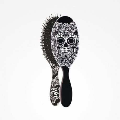 Cepillo Wet Brush-Pro Oval Sugar Skull White Perfect Beauty