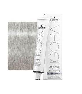 Tinte Igora Royal Absolutes Silverwhite Plata 60ml
