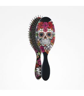 Cepillo Wet Brush-Pro Oval Sugar Skull Red Rose Perfect Beauty