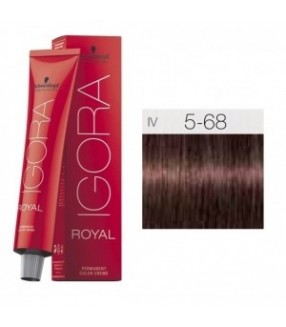 Schwarzkopf Igora Royal Tinte 5-68 Castaño claro Marrón Rojo