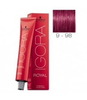 Schwarzkopf Igora Royal Tinte 9-98 Rubio Muy Claro Violeta Rojo