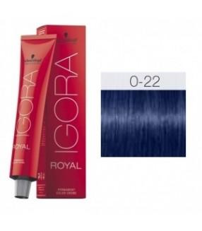 Schwarzkopf Igora Royal Tinte 0-22 Tono Mezcla Azul