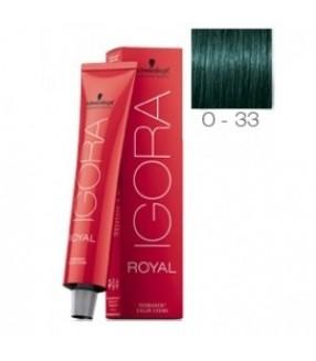 Schwarzkopf Igora Royal Tinte 0-33 Tono Mezcla Verde