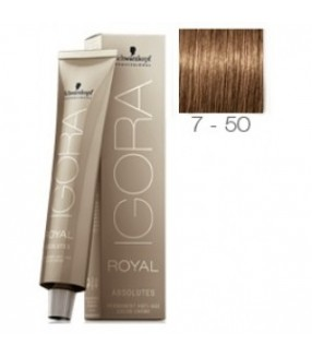 Schwarzkopf Igora Royal Absolutes Tinte 7-50 Rubio Medio Dorado Natural