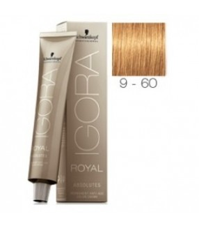Schwarzkopf Igora Royal Absolutes Tinte 9-60 Rubio Muy Claro Marrón Natural