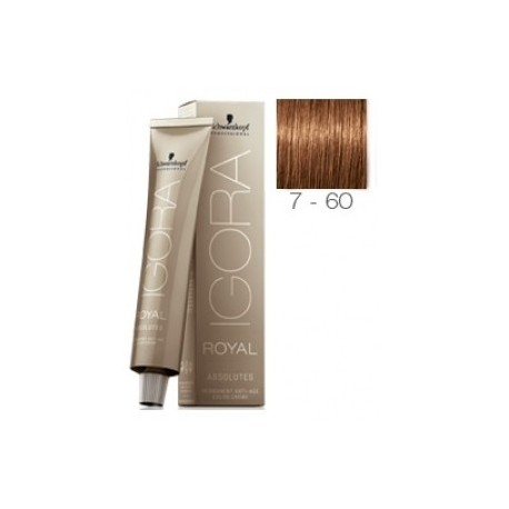 Schwarzkopf Igora Royal Absolutes Tinte 7-60 Rubio Medio Marrón Natural