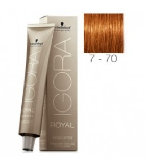 Schwarzkopf Igora Royal Absolutes Tinte 7-70 Rubio Medio Cobrizo Natural