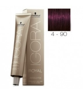 Schwarzkopf Igora Royal Absolutes Tinte 4-90 Castaño Medio Violeta Natural