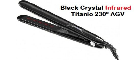 Plancha Black Crystal Infrarrojos Titanio 230º AGV
